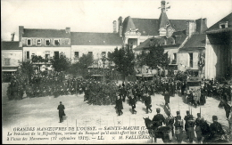 GRANDES MANOEUVRES OUEST SAINTE MAURE PRESISENT REPUBLIQUE FALLIERES 1912 - Manovre