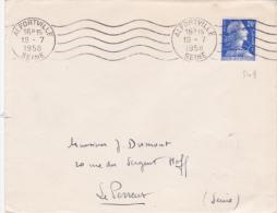 ALGERIE 20F MULLER Oblitération En France Alfortville Seine - 1955- Maríanne De Muller