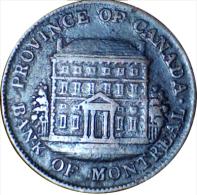 1844, CANADA, BANK OF MONTREAL, HALF PENNY TOKEN - HIGHER GRADE -  *SEE PHOTOS - Canada