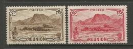 French Reunion   1933  Sc#146 & 148  75c & 90c   MLH*   2016 Scott Value $7.50 - Réunion (1852-1975)