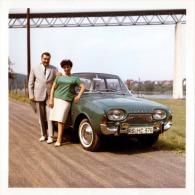 Foto 1964, Alter Taunus, Fotoformat 9 X 9 Cm - Automobile