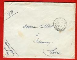 39 45-Du Capitaine A. Secteur Postal 183 à Briennon Loire-Février 1940-Cachet Non Signalé-2 Scans - Marcophilie (Lettres)