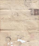 1861 - TOSCANA / GOVERNO PROVVISORIO CENT. 10 BRUNO - PIEGO  - L2237 - Toscana