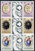 St. Helena 1981 Royal Wedding Charles & Diana Interpanneau Pairs, MNH - St. Helena