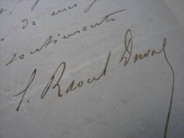 Edgar RAOUL DUVAL (1832 - 1887) - Député ROUEN Puis EURE - AUTOGRAPHE - Autografi