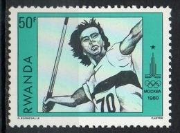 Rwanda 1980 - Olimpiade Di Mosca Olympic Games Moscow Giavellotto Javelin MNH ** - Rwanda