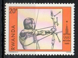 Rwanda 1980 - Olimpiadi Mosca Olympic Games Moscow Tiro Con L'arco Archery MNH ** - Rwanda