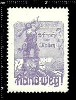 Old Original Austrian Poster Stamp Cinderella Reklamemarke - Schmach über Italien! - Katze Cat Propaganda Brand - Gatos Domésticos