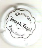 CAPSULE DE MUSELET CHAMPAGNE JOSEPH FAGOT RILLY (NOIR SUR BLANC) - Champagne