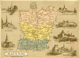 Chromos  Départements  Mayenne   Dos Scané  Cpa - France