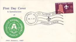 PAKISTAN 1967 4TH PAKISTAN NATIONAL JAMBOREE   FDC - Pakistan