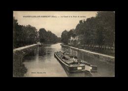 18 - MARSEILLES-LES-AUBIGNY - Canal - Péniche - France