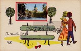 85 -  Illustrateur Claude Verrier - Mareuil-sur-Lay. - (voir Scan Recto-verso). - Mareuil Sur Lay Dissais