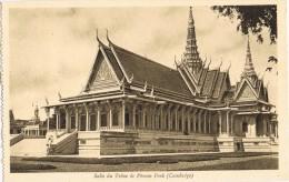 4589. Postal CAMBOYA, Cambodge. Sala Del Trono Pnom Penh - Camboya