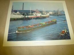 Cliché   Année 1956  (27cm X 21cm)  Le Cargo Pétrolier SILEZIA Dans Le Port De ROTTERDAM  (Hollande)   Envoi Gratuit - Bateaux