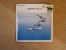 DOUGLAS SBD Dauntless Bombardier En Piqué USA FICHE AVION Avec Description    Aircraft Aviation - Airplanes