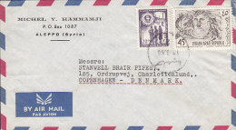Syria Airmail Par Avion MICHEL Y. HAMMAMJI, ALEPPO 1966 Cover Lettre To CHARLOTTENLUND Denmark - Syrien