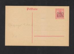 WWI German Occupation 9th Army Stationery Unused - Interi Postali