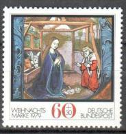 Germany BRD 1979 Christmas  Art. Initial Michel 1032 MNH (**). - [7] Repubblica Federale
