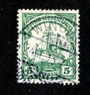 (1521)  S.W.A. 1906  Mi.25 (o)  Catalogue  € 1.70 - Colony: German South West Africa