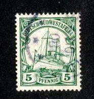 (1522)  S.W.A. 1906  Mi.25 (o)  Catalogue  € 1.70 - Colony: German South West Africa