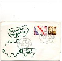 1981  LETTERA CON ANNULLO ENEL  RISPARMIO ENERGETICO CATANZARO - 1981-90: Storia Postale