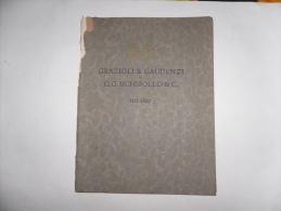 GRAZIOLI & GAUDENZI MOBILI STOFFE E DECORAZIONI NELLO STILE DI TUTTE LE EPOCHE 1925 - Libri Antichi