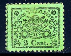 Roman States 19  Og  Hinge Rem  Tiny Thin Reprint?    1887 - Papal States