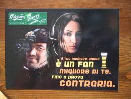 Carlsberg Bier MTV Europe Music Camera Carte Postale - Publicité