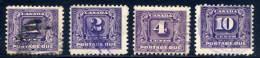 Canada  J6, J7, J8, J10   Used  Sound    1930 - Postage Due
