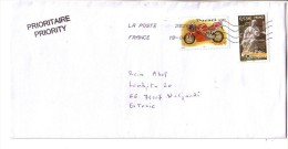 GOOD FRANCE Postal Cover To ESTONIA 2013 - Good Stamped: Monument ; Bike - France