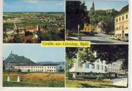 Grüße Aus GÜSSING - Mehrfachansicht: Kaserne, Konsum, Bezirkshauptmannschaft, Burg ...... - Güssing