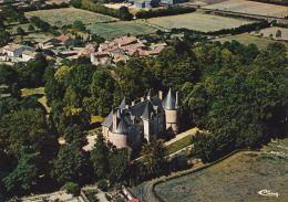 Cp , 79 , MAUZÉ-SUR-LE-MIGNON , Le Château , Vue Aérienne - Mauze Sur Le Mignon