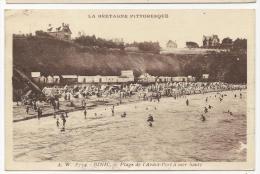 CP, 22, BINIC, Plage De L'Avant Port à Mer Haute, écrite, Voyagé - Binic