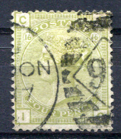 GB 1877 Wmk Large Garter Pl.16 - Yv.59 (Mi.48, Sc.70, SG153) - Gebraucht