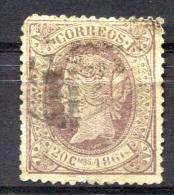 SPAIN 1866 Perf.14 - Yv.85 (Mi.79, Sc.87) Used (short Corner) - 1850-68 Königreich: Isabella II.
