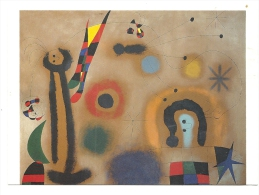 Cp, Peintures Et Tableaux, Joan Miro - Libelula De Alas Rojas Persiguiendo A Una Serpente Que Se Desuza En Espiral... - Pittura & Quadri