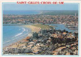Cp , 85 , SAINT-GILLES-CROIX-DE-VIE , Vue Générale De La Plage - Saint Gilles Croix De Vie