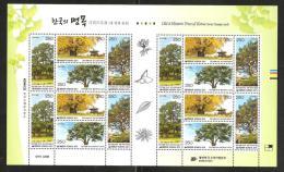 RO) 2011 KOREA, TREES-SEEDS, OLD - HISTORIC, BLOCK MNH. - Korea (...-1945)