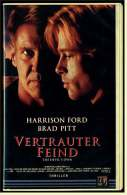 VHS Video  -  Vertrauter Feind  -  Mit : Harrison Ford, Brad Pitt, Margaret Colin, Ruben Blades  -  Von 1999 - Action & Abenteuer