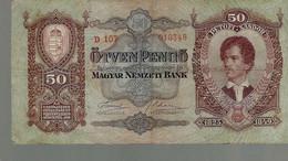 HONGRIE 50 Pengö 1932 - Hongrie