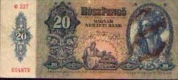 HONGRIE 20 Pengö 1941 - Hongrie