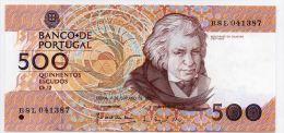 PORTUGAL : 500 Escudos 1989 (unc) - Portugal