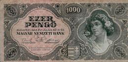 HONGRIE 1000 Pengö 1945 - Hongrie