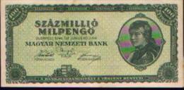 HONGRIE 100.000.000 Pengö 1946 - Hongrie