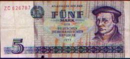 Allemagne Démocratique - 5 Mark 1975 - [ 6] 1949-1990: DDR - Duitse Dem. Rep.