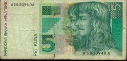 Croatie - 5 Kuna 1993 - Croatie