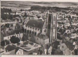 France CP Sézanne (Marne 51) Vue Aérienne Eglise St Denis - Sezanne