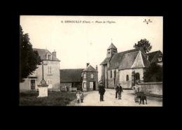 18 - GENOUILLY - Place De L'Eglise - Attelage à Chien - Voiture à Chien - France