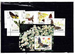 Fujeira, Butterflies 1972 - Compl.set 5 Stamps MNH + 1 S.sheet , Nice Topical Set Compl.set- SKRILL PAY ONLY - Fujeira